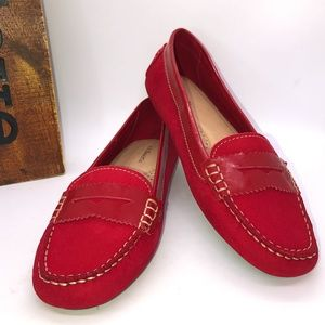 G.H. BASS PAMMY Red Driving Penny Moc Toe Loafers -8.5